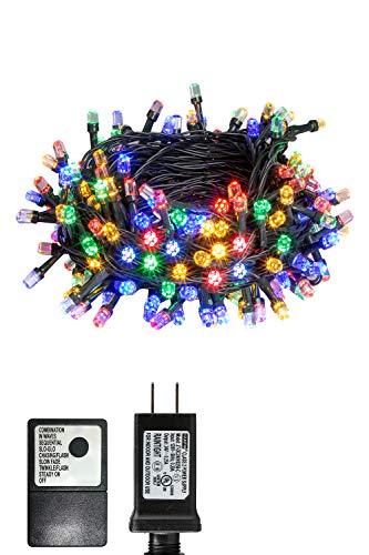 PEIDUO 66FT 200LT Christmas Fairy String Lights Plug Powered 30V 8...