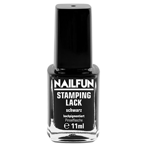 Stamping Lack Nagellack Schwarz Black 10ml Stampinglack