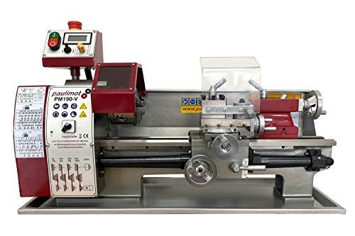 PAULIMOT Drehmaschine PM190-V mit 400 mm Spitzenweite, frequenzgesteuert