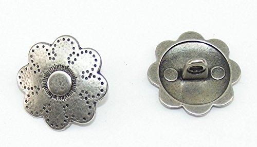 TvT-web Altefer 04.44/692 Lot de 8 Boutons en métal pour Costume Traditionnel 20 mm