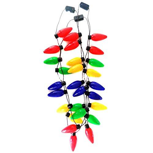 zreal Festival collar LED Allumer plástico lámpara de bolsillo luminoso de fiesta de Navidad bombilla abrazaderas para adultos niños