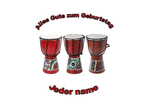 Afrikanische TomTom Bongo-Trommeln personalisierter Name 8-Zoll-runder Zuckerguss-Deckel African TomTom Bongo Drums Personalized Name 8 Inch Round Frosting Topper