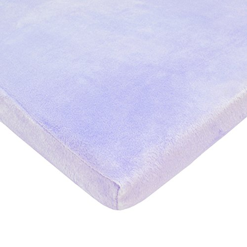 American Baby Company Heavenly Soft Chenille Fitted Bassinet Sheet, Lavender, for Girls