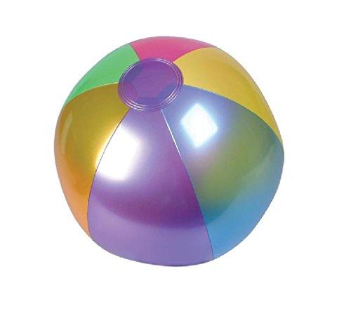 Rhode Island Novelty (INMBB18) Metallic Beach Balls Swimming Pool Toys 18' Multi-Color (12 Pack)
