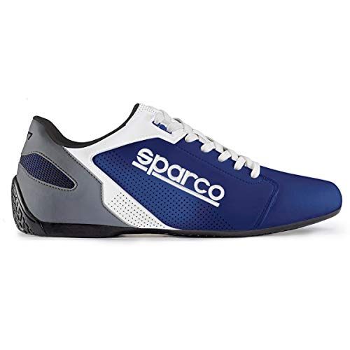 SPARCO 00126343AZBI Slippers SL-17 White Blue Größe 43