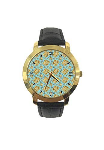 Reloj de Pulsera para Mujer con diseño de Mapa Pirata con Dibujo náutico y dirección de Vela, Correa de Piel de Cuarzo