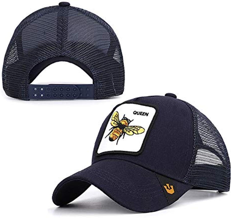WLEZY Baseball Cap Cartoon bee Embroidered Baseball Cap Animal mesh Breathable Summer Men's and Women's Outdoor Shade Truck Cap