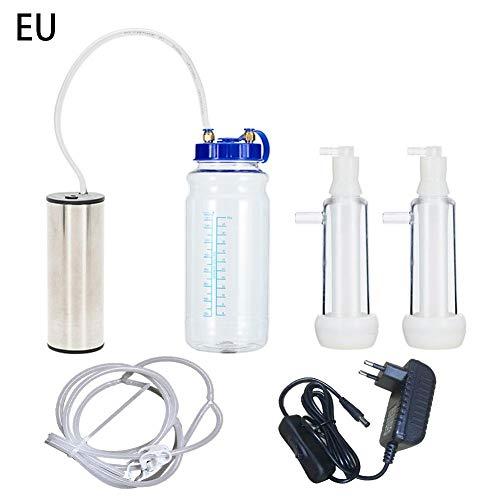 perfecti 2L Schafen Melkmaschine Doppelkopf Tragbarer Elektrische Melkmaschine Kit Haushalt Edelstahl Vakuumpumpe Milchmaschine für Schaf Ziege (EU)
