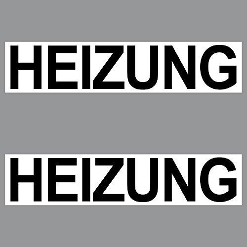 2 Sticker Heizung PVC Aufkleber 20cm Hinweis Schild für Tür Tor Keller in Geschäft Arzt Praxis Kanzlei