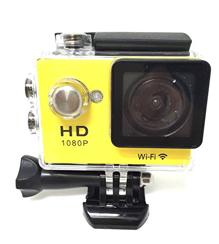 RioRand WIFI RS4000 Outdoor Sports DVR Cam Action DV Camera Car Recorder 1080P 2.0 Inch 12MP 140 degree Full HD Wide-angle Micro USB 2.0 (Yellow)