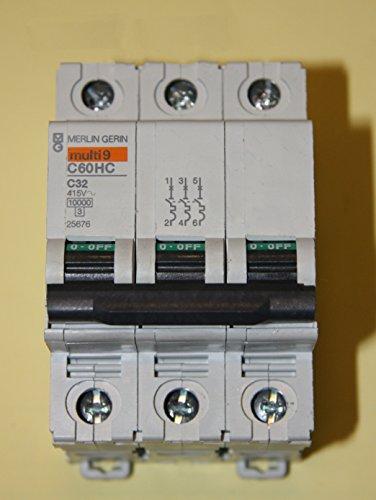 Corte-borde MERLIN GERIN - C60HC332 - cuadro eléctrico, 32 A, 3POLE, Tipo de c- - (1 unidades) - Min 3 años garantía Cleva