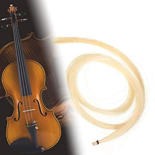YSHTAN Violinenbogen Haar-Orchesterinstrument Reparaturwerkzeug 1 Strang 76,2 cm Pro Violine Viola Cellobogen Pferdehaar Musikinstrument Zubehör – Beige