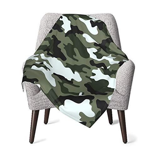 WGYWE - Manta de camuflaje ultra suave para bebé, diseño de sofá cama, diseño de camuflaje