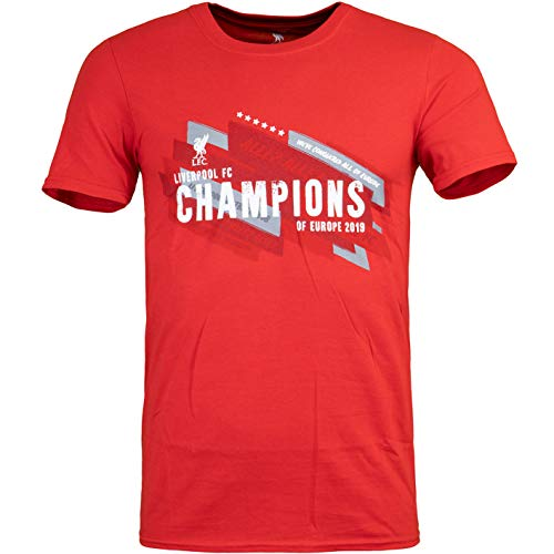 FC Liverpool Champions League Sieger 2019 T-Shirt (S, red)