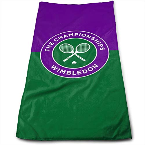 Wimbledon Tennis Tournament Hand Towels Dishcloth Floral Linen Super Soft Extra Absorbent for Bath,Spa And Gym 12 X 27.5 inch
