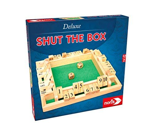Noris 606108013 Deluxe Shut The Box, der beliebte Spieleklassiker in hochwertiger Holz-Ausführung, ab 8 Jahren