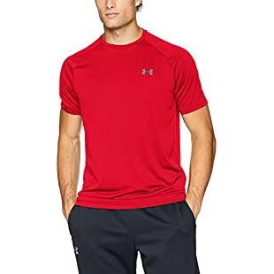 Under Armour Men's UA Tech Tee 2.0 Short-Sleeve Shirt, Red/Graphite, Medium