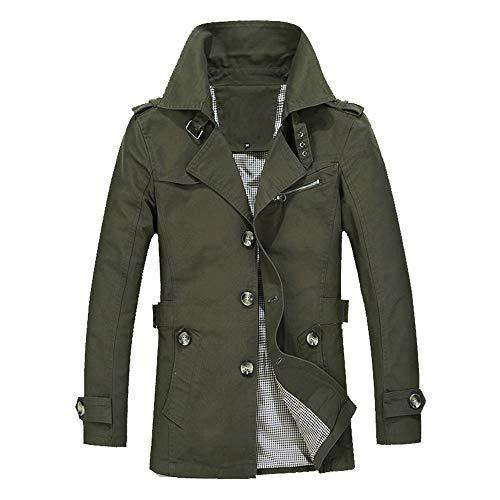 Männer Winter Warme Outwear Slim Fit Trench Buttons Coat Mantel Winterjacke Herrenjacke Parka Mantel Jacke