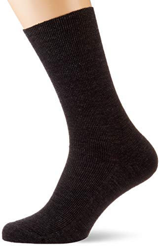 Lusana Herren Komfortstützsocke Middle Socken, Grau (Anthrazit 02), 38/39