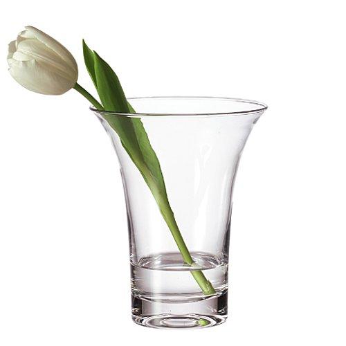 Leonardo Vase Ravenna, handgefertigte Blumen-Vase im modernen Design, dekorative Vase für Sträuße aus Glas,18-cm, 012117