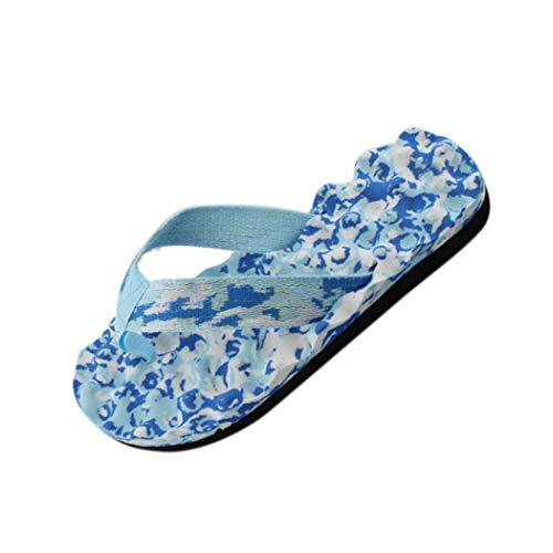 BHYDRY Infradito Estivi Donna Infradito Scarpe Sandali Pantofola Interna & Outdoor Flip-Flop(37 EU,Blu)