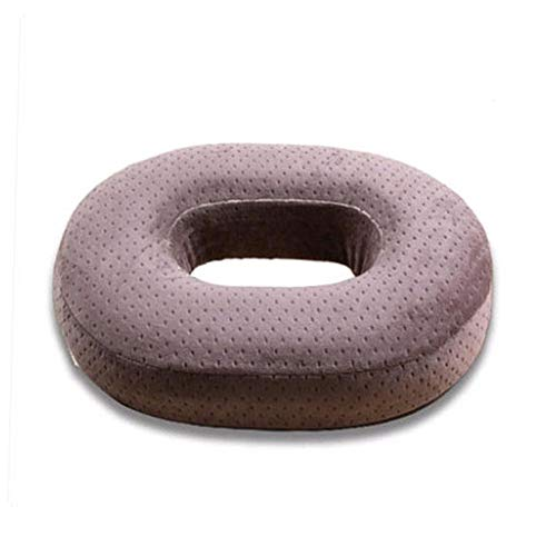 YFWJD Donut Tailbone Pillow Hemorrhoid Cushion - Seat Cushion Pain Relief Treatment, Bed Sores, Prostate, Coccyx, Sciatica, Pregnancy, Post Natal Orthopedic Surgery,coffee,38 * 30 * 7cm