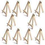 HANBIN 10 pcs Mini chevalet en bois affichage photo pour les mariages carte de place chevalet de table en bois 18 * 24-10pcs