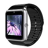 Swiftswan GT08 - Reloj inteligente unisex con función de cámara, pulsera deportiva Bluetooth para hombre y mujer
