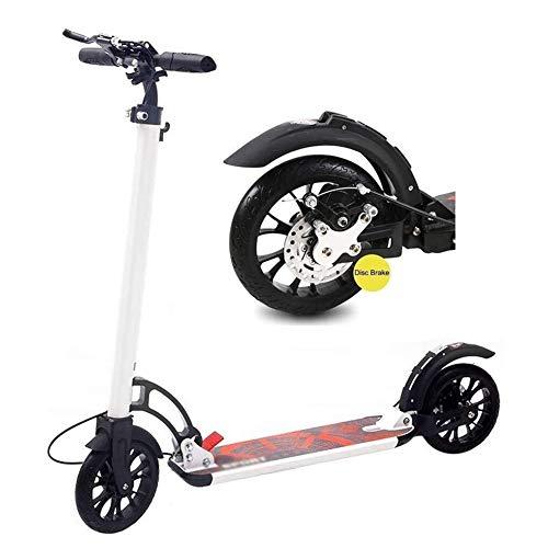 SOAR Patinetes Para Niños Montar portátil al aire libre del pedal Vespa-adulto Vespa con ruedas grandes y el disco de freno de mano, Suspensión trasera y altura ajustable, plegable Soporte 100Kg (no e