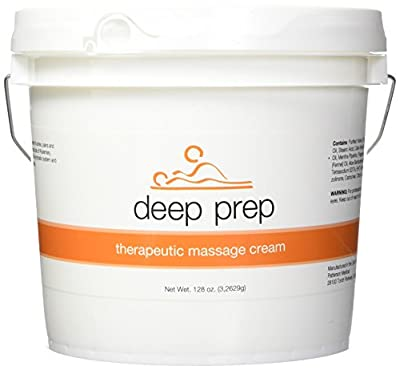 Rolyan Deep Prep Therapeutic Massage Creme, Professional Quality Massage Creme with Capmor and the natural essential oils of Rosemary, Peppermint and Fennel ,
