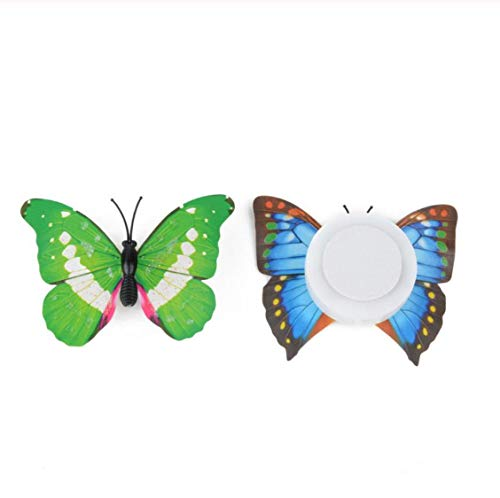 Wall Sticker Living Room Bedroom Background Novel Wall Stickers Butterfly Led Lights Wall Stickers 3D House Decoration57*67Cm
