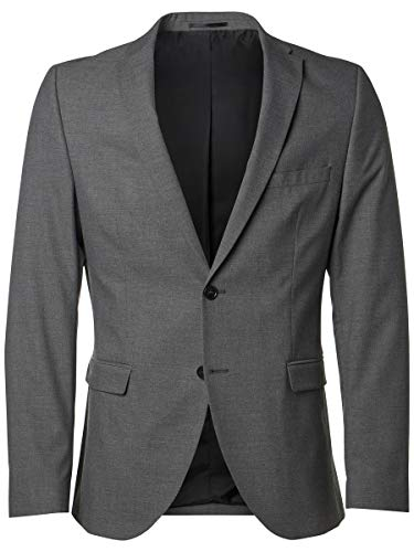 SELECTED HOMME Herren SHDNEWONE-MYLOLOGAN1 Blazer NOOS Anzugjacke, Grau (Medium Grey Melange), 46