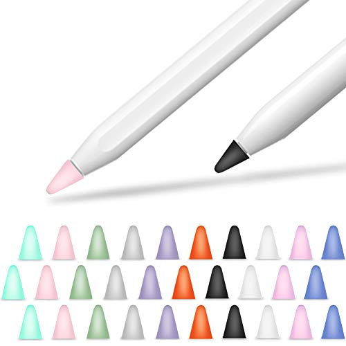 YINVA Ersatzspitzen Kompatibel mit Apple Pencil 1st & 2nd Hochempfindlich iPencil Nib Spitze Replacement Tips Apple Bleistift Tipps (30 PCS,10 Colors)