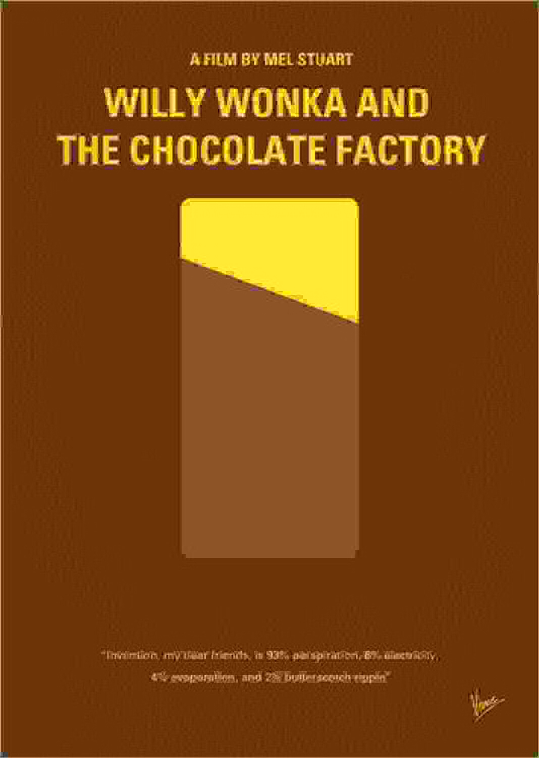 gran venta Cuadro de PVC 60 60 60 x 80 cm  No149 My Willy Wonka and The Chocolate Factory Minimal Movie Poster de chungkong  buena calidad