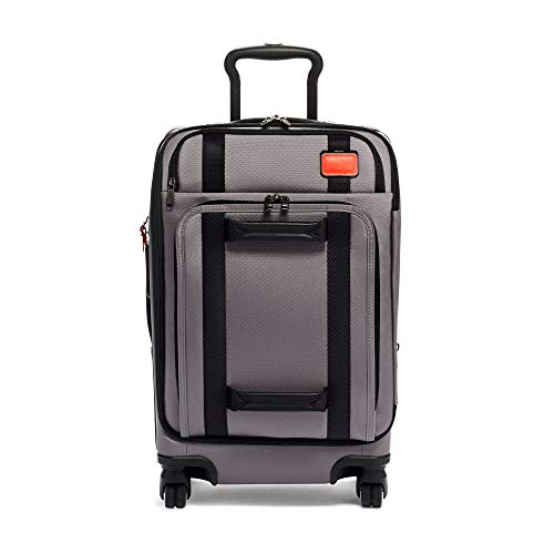 TUMI - Merge International Front Lid 4 Wheeled Carry-On Luggage - 22 Inch Rolling Suitcase for Men and Women - Grey/Bright Red