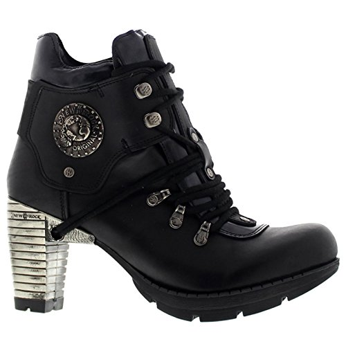 New Rock Womens M.TR010-S1 Black Leather Boots 39 EU