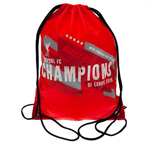 Liverpool Fc Champions of Europe Red Drawstring Swimming Gym Swim Bag