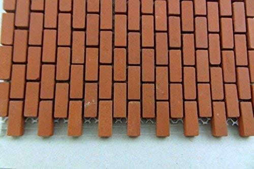 Maison de Poupées Miniature 1:12 Maille Feuille de Véritable Cuite au Four Véritable Modèle Briques
