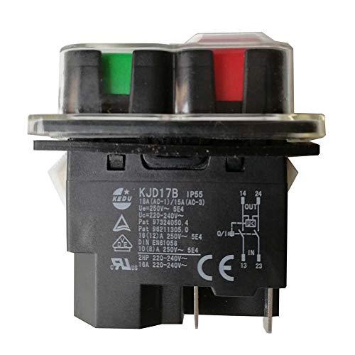 KEDU KJD17B Interruptor Electromagnético 4 Pines Impermeable Herramienta Eléctrica Interruptores de Botón para Maquinaria y Equipos Industriales AC 250V 16/12A