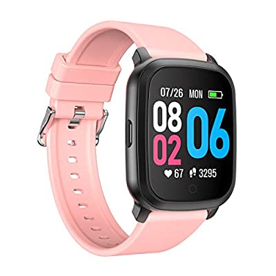 "YoYoFit Cube Smart Watch with Heart Rate, Fitness Tracker with Music Player Control,Sport Watch Wish 1.3"" Touch Screen, Pedometer, Sleep Monitor and Step Counter Activity Tracker Women&Man"