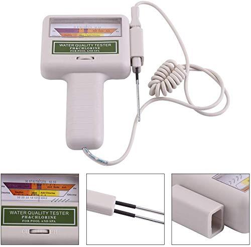 Suprcrne Medidor de Prueba de Calidad del Agua, Probador de pH Portátil CL2 Medidor de pH de Alta precisión para Consumo Doméstico, Hidroponía, Acuarios, Sistema RO, Estanque de Peces y Piscina