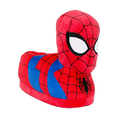 7706-1 - Marvel Ultimate Spider-Man - Spider-Man Slippers - Small - Happy Feet Mens and Womens Slippers