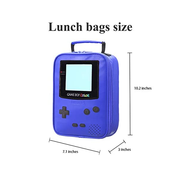 Boy Lunch Boxkids Lunch Bags Insulated Leather Lunchbag Small Lunch Tote Waterproof Lunch Boxes For Boy Girl Teen