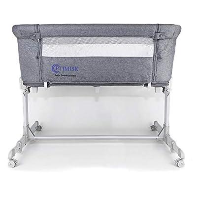 Bedside Bassinet Crib Baby Bassinet Bed Side Sleeper Bassinet for Baby Playpen Wheeled Portable and Adjustable Bassinet for Newborn Baby Boy Baby Girl Infant