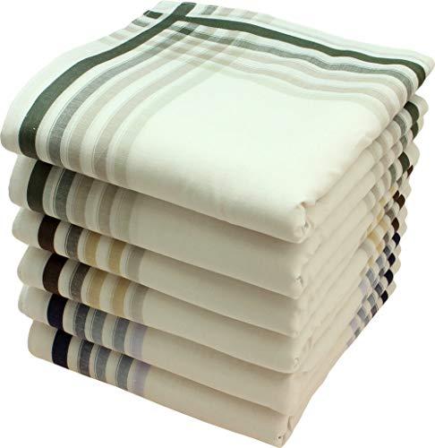 Royal Quality Taschentücher 6 Stück ca.40x40cm reine Baumwolle Harry