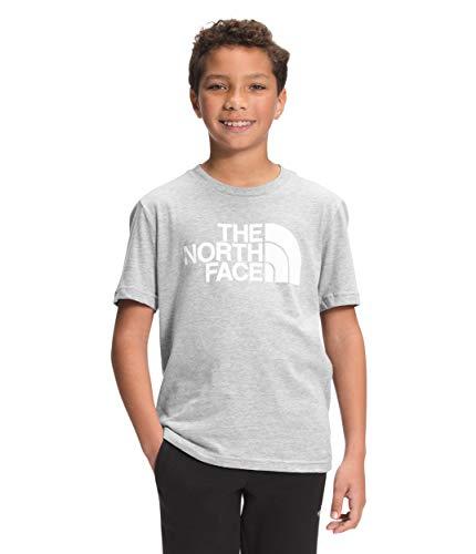The North Face Boys' S/S Graphic Tee, TNF Light Grey Heather/TNF White/TNF White, S