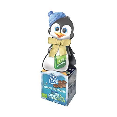 Plamil Schokoladen Bio Drops Pinguin Geschenkbox - 65 g laktosefreie, vegane Weihnachts Schokolade