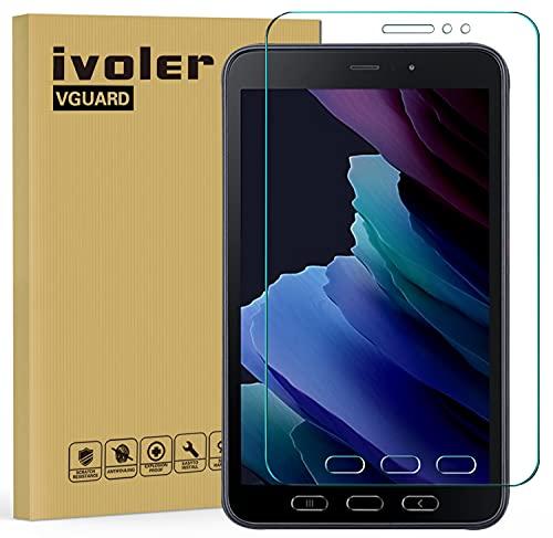 ivoler Protector de Pantalla para Samsung Galaxy Tab Active 3 8.0 Pulgadas, Cristal Vidrio Templado Premium, 9H Dureza, Antiarañazos, Sin Burbujas