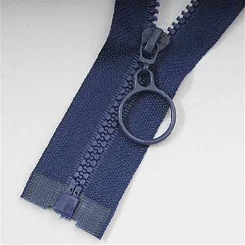 TREW No. 3 hars ritsen for het naaien van decoratieve kinderen kleur ritssluiting slaapzak ritssluiting for kledingstuk accessoires (Color : Navy, Size : Opening 60cm)