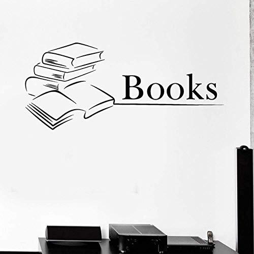 Bücher Wandtattoos Bibliothek Bücherwurm Bildung Schule Kunst Wandbild Vinyl Wandaufkleber Home Decoration 42X94Cm